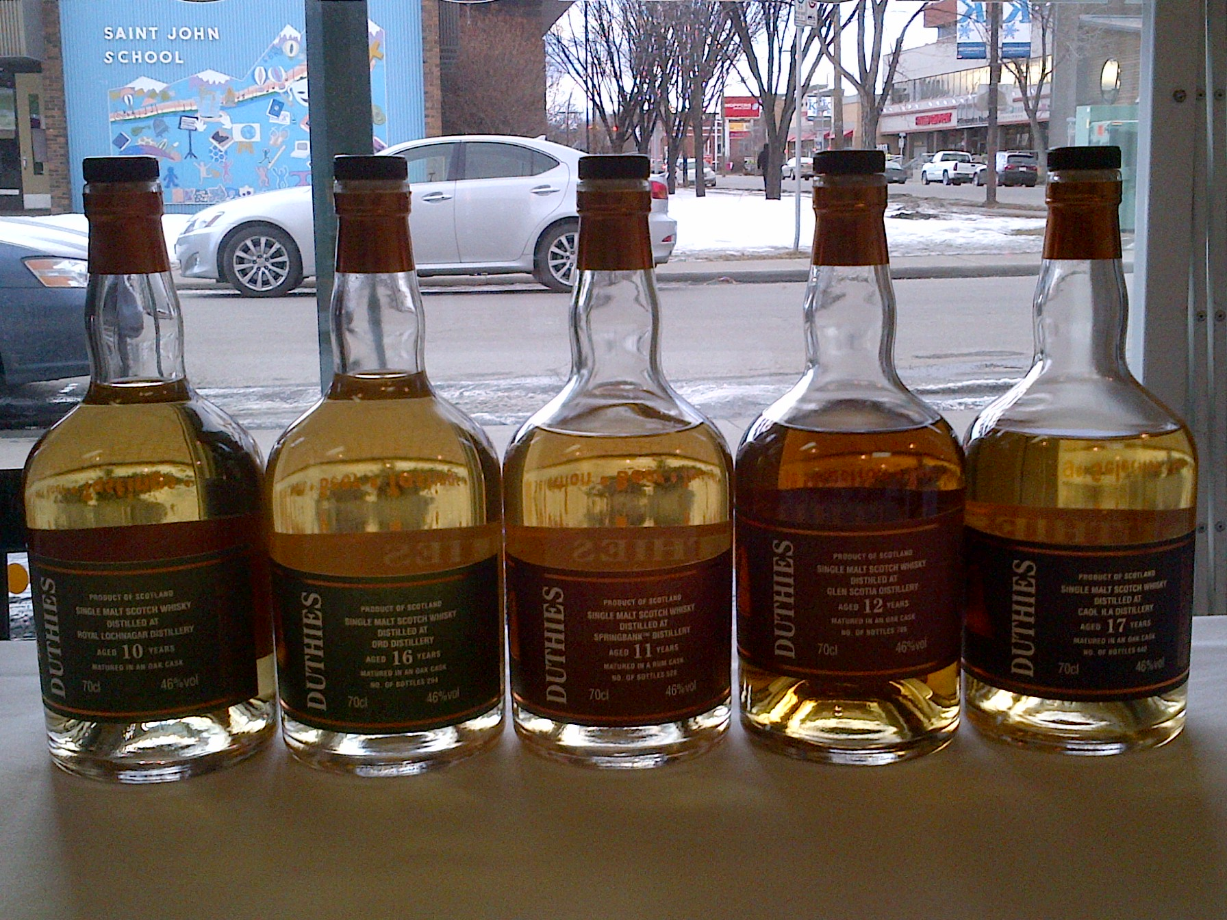 New exclusive duthies single malts available in store for Burns supper order of service