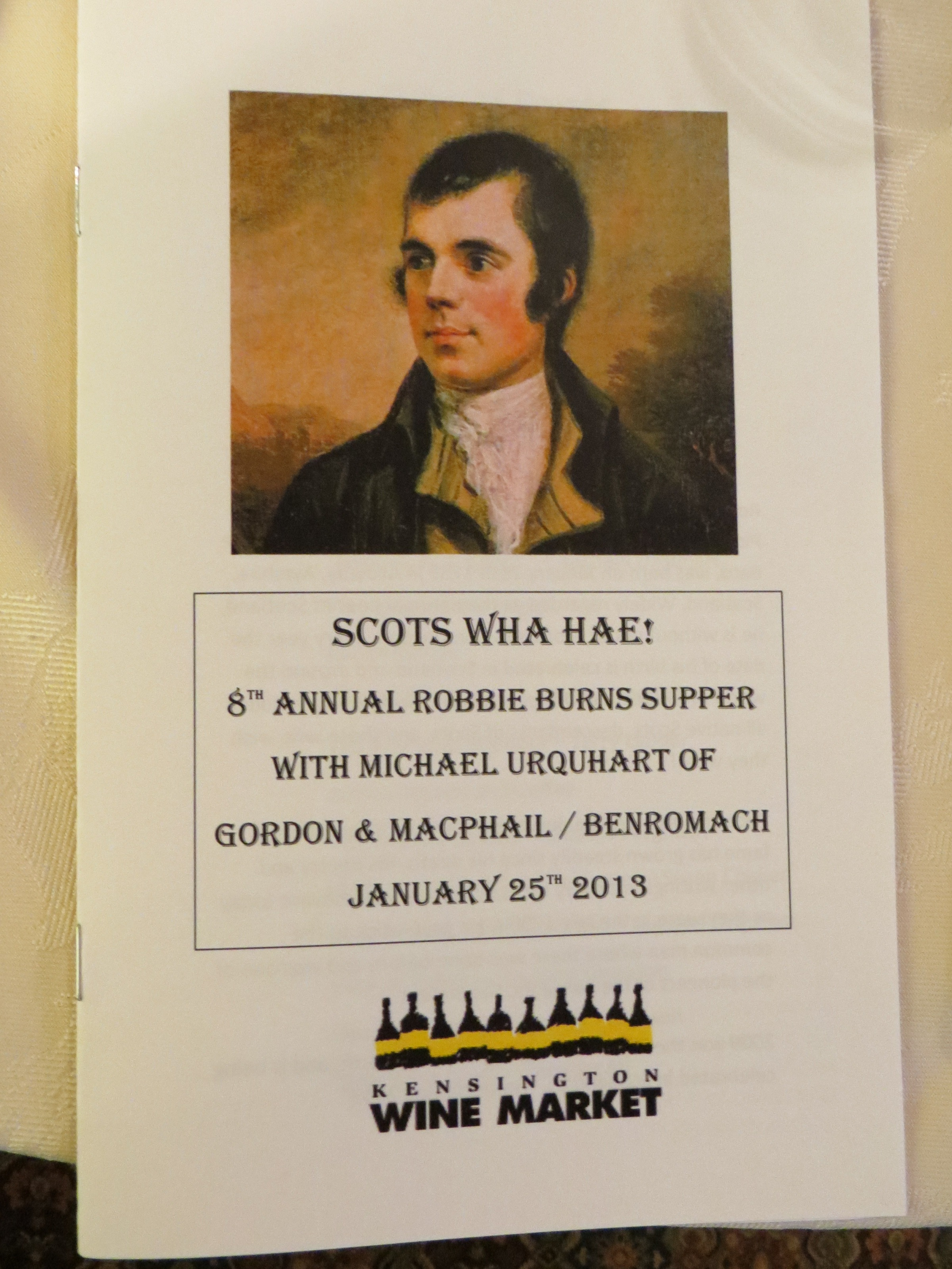 Photos from our 8th annual scots what hae robbie burns for Burns supper order of service